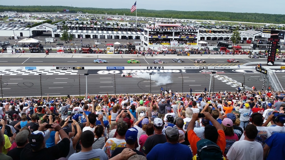 Dale Earnhardt, Jr. winning Pocono