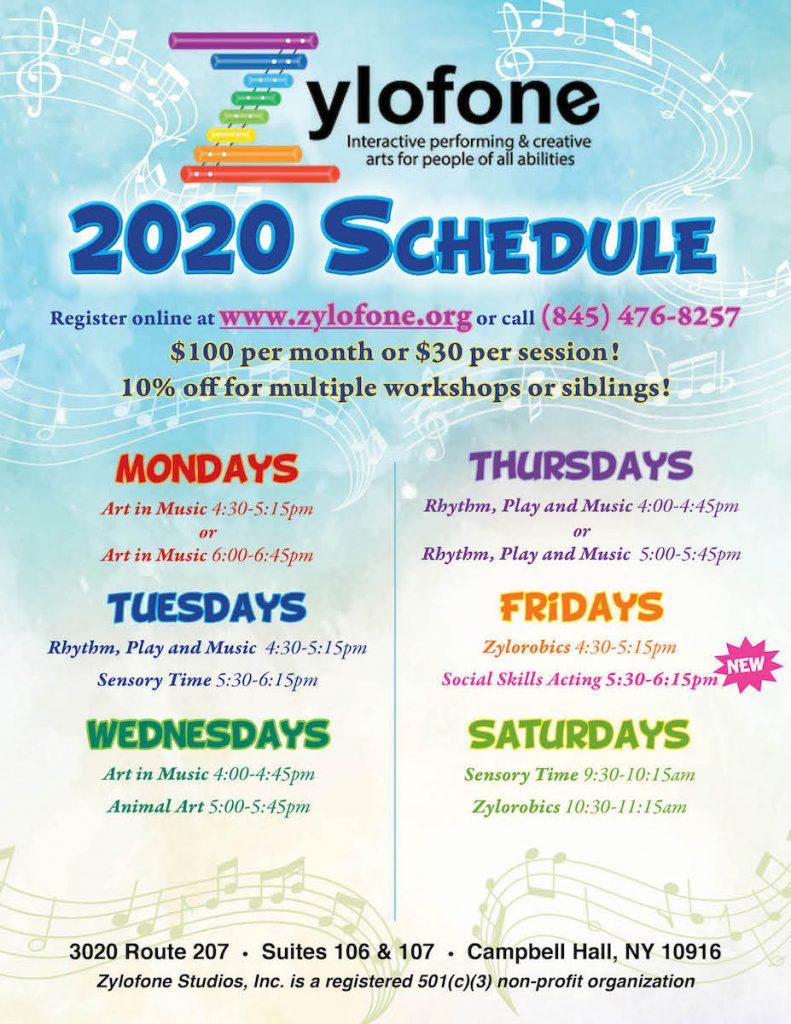 Zylofone 2020 Schedule - Feb Revmin