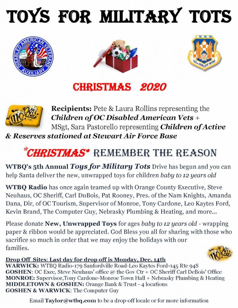 Toys For Military Tots- Poster -2020